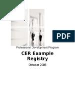 CER Registry Oct2005