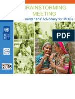 Brainstorming Meeting-Parliamentarians' Advocacy for MDGs