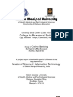 Master Thesis on Master of Science in Information Technology (MSCIT) on Online Banking - Rajendra Man Banepali