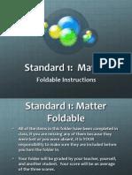 Standard 1 Matter Folder