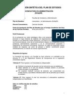 Plan de Estudios de Administracion