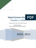 Digital Systems Design Ch1 VHDL - VHDL Hardware Description Language