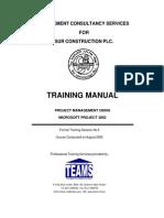 MS Prjct Traning Manual2