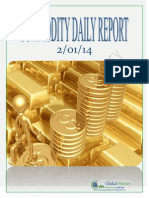 Daily Commodity Report of Global Mount Money 2-1-2014