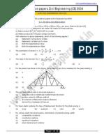 GATE CE 2004 Question Paper