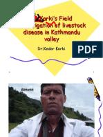 Dr.Karki's Field Investigation of livestock disease in Kathmandu valley