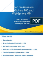 The Top Ten Issues in WebSphere MQ and WebSphere MB