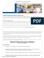 District Sales Executive (Sabah) - Nestle Products Sdn. Bhd