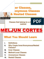 MELJUN CORTES JAVA Lecture Inner Classes Nested Classes