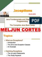 MELJUN CORTES JAVA Lecture Exceptions