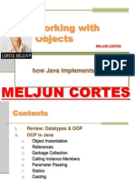 MELJUN CORTES JAVA Lecture Working With Objects
