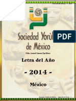 Letra del Año 2014 - Mexico