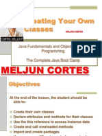 MELJUN CORTES JAVA Lecture Creating Own Classes