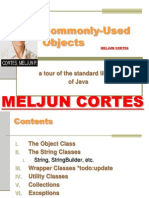 MELJUN CORTES JAVA Lecture Commonly Used Objects