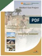 phulbari coal mine executive summery by asia energy