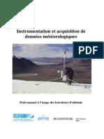 Instrumentation et acquisition de données météorologiques