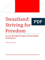 Swaziland Striving for Freedom Vol 12 December 2013