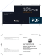 Lenovo Idea Pad Y550 User Guide V1.0