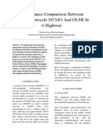 Performance Comparison Between DYMO Routing Protocols and OLSR Routing Protocols in a Highway