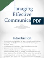 Managing Effective Communication