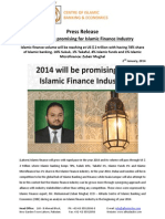 Press Release on 2014 will be promising for Islamic Finance Industry (English)