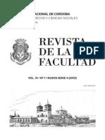 Univ. Cba. Rev. Nro. 1-2013