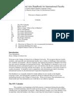 CLA New Faculty Handbook