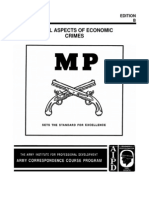 Military Police MP 1022 Legal Aspects of Economic Crimes - Subcourse