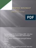 Etika Profesi Advokat