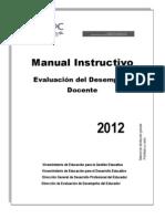 Manual Instructivo - Evaluación de Desempeño Docente 2012