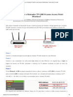 Como Configurar o Roteador TP-LINK N como Access Point Wireless_ - Bem-vindo à TP-LINK
