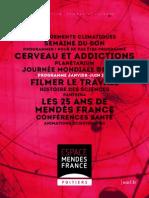 Programme de L'Espace Mendès France, janvier 2014