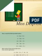 Factorize quadratic equations (lesson)