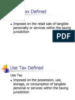 Sales Tax Presentation