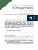 Consideraciones para el diseño didáctico de ambientes virtuales de aprendizaje