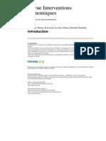 Interventionseconomiques 242 38 Introduction