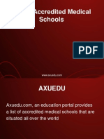 List of Accredited Medical Schools