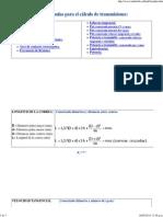 Formulas para el cálculo de transmisiones