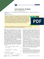 A Simple Oxygen Detector Using Zinc−Air Battery