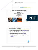 The Lean Handbook Journey-Asq Lss Conference
