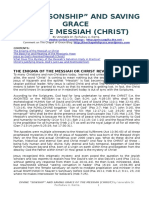 DIVINE SONSHIP AND SAVING GRACE OF THE MESSIAH