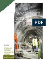 Diseño del soporte de una obra subterranea