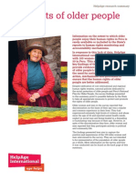 The rights of older people in Peru