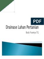 Prinsip drainase lahan pertanian