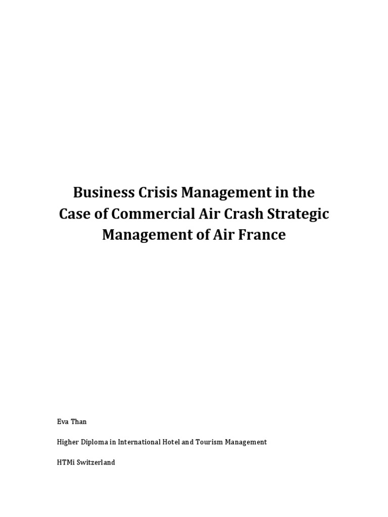 Business Crisis Management in the Case of Commercial Air Crash ...