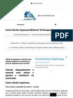 Como Calcular Argamassa Multiuso_ Na Dosagem Correta _ ConstruFácil RJ