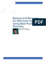 Backup and Recovery for Microsoft Hyper-V Using Best Practices Planning