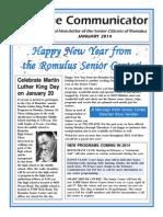 Communicator Senior Newsletter - January 2014