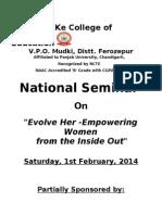 National Seminar Bkec Mudki 2014