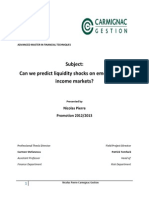 Professional Thesis - Nicolas Pierre - Can We Predict Liquidity Shocks on Emerging Fixed Income Markets